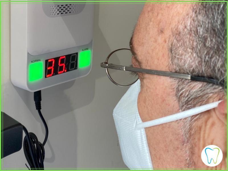 rilevamento temperatura dentista ammendolia velletri