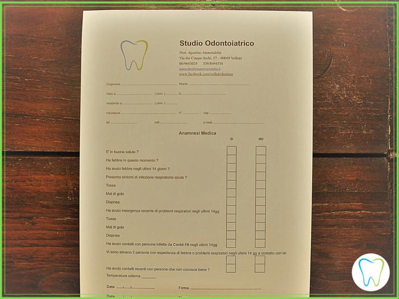 anamnesi covid dentista ammendolia velletri